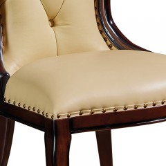 【精品】千匠一品 美式轻奢风格精选优质进口榉木+仿真皮/真皮软包餐椅901-Y