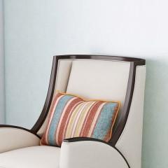 【精品】千匠一品 美式轻奢风格精选优质进口榉木+布艺软包+高回弹海绵休闲椅YD09-Y