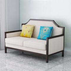 【精品】千匠一品 美式轻奢风格精选优质进口榉木+布艺软包+高回弹海绵沙发YD10-Y