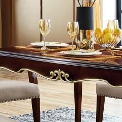 【精品】千匠一品 美式轻奢风格精选优质进口榉木+实木多层板+胡桃木皮长餐桌901-Y