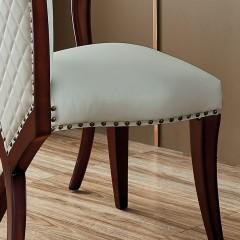 【精品】千匠一品 美式轻奢风格精选优质进口榉木+仿真皮/真皮软包妆凳901-Y