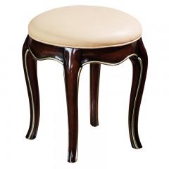 【精品】千匠一品 美式轻奢风格精选优质进口榉木+仿真皮/真皮软包妆凳902-Y