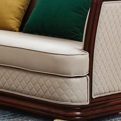 【精品】千匠一品 美式轻奢风格精选优质进口榉木+仿真皮/真皮软包+高回弹海绵沙发905-Y