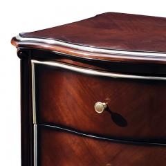 【精品】千匠一品 美式轻奢风格精选优质进口榉木+实木多层板+胡桃木皮床头柜9801-Y