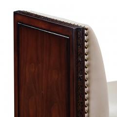 【精品】千匠一品 美式轻奢风格精选优质进口榉木+仿真皮/真皮软包+实木多层板床尾凳902-Y