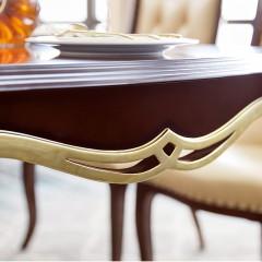 【精品】千匠一品 美式轻奢风格精选优质进口榉木+实木多层板+胡桃木皮长餐桌902-Y