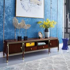 【精品】千匠一品 美式轻奢风格精选优质进口榉木+实木多层板+胡桃木皮电视柜903-Y