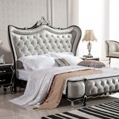 千匠一品简约法式橡胶木双人床凯帕朗B床