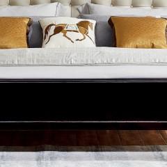 【精品】千匠一品轻奢法式优质橡木实木+优质仿真皮1.5/1.8米床BF907-X