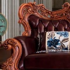 千匠一品法式風格精選優質橡膠木沙發組合928#-H