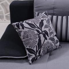 千匠一品简约北欧风格橡胶木实木框架+高密度海绵进口绒布面料沙发8005-X
