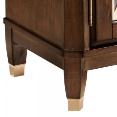 千匠一品轻奢美式北美白蜡木泰国橡胶木实木框架+钢化玻璃餐边柜MH-603A-X