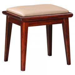 【精品】千匠一品轻奢中式非洲进口乌金木材+高密度海绵妆凳KZ209-X