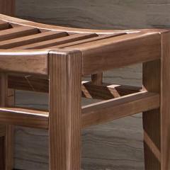 【精品】千匠一品轻奢中式精选优质白蜡木+E1板材妆凳B-041-X
