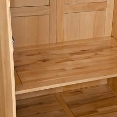 千匠一品新中式风格优质榉木实木多层板三门衣柜WS616-X