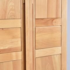 千匠一品新中式风格优质榉木实木多层板两门衣柜WS618-X