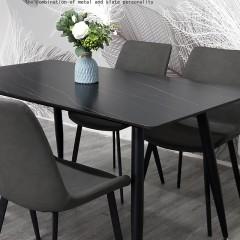 千匠一品【超值爆款】意式极简优质岩板餐桌家用饭桌长方形餐桌8011-X